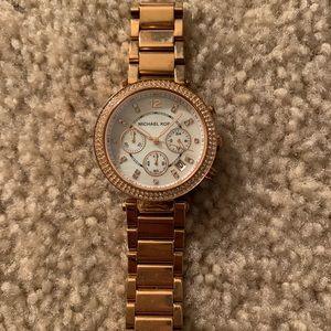 Rose gold Parker style Michael Kors watch
